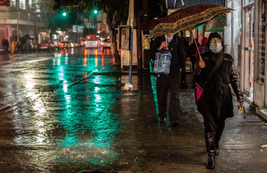 Lluvia el 25 de octubre en Tijuana. Foto Omar Martínez
