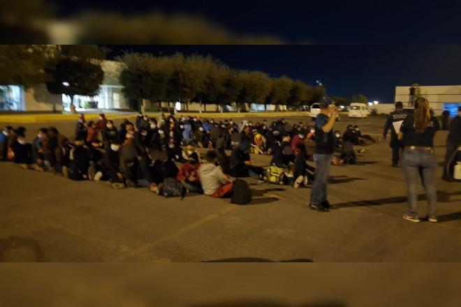 Migrantes detectados en Tamaulipas. Foto tomada de @INAMI_mx